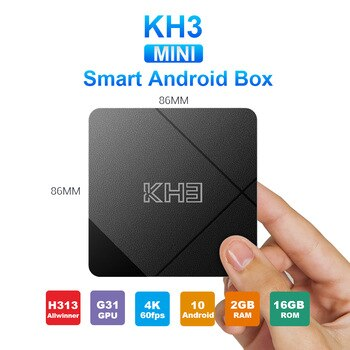 Mecool New KH3 Android 10 2GB 16GB TV Box Allwinner H313 Quad-core ARM Cortex-A53 Smart TV 2.4G/5G WiFi BT 4.1TV Box Media playe